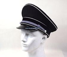 WWII German Elite Officer Wool Hat Officer Cap Black Replica