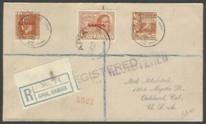 Nauru 1923 registered cover to USA