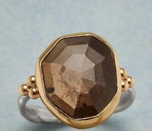 Sundance Catalog Emily Amey Choclate Sapphire ring size 7 retail $650