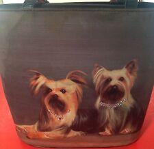 RARE Yorkshire Terrier Dog Handbag / Purse for Women / Girls - Vintage 1980s