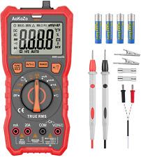 Multimètre Numérique Portable,Aokozo Automatique Testeur Electrique Profession