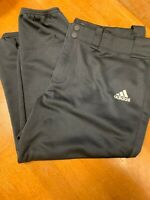 "Adidas Climalite Men's Sz XL X LARGE 28"" Black Baseball Softball Pants w pockets"