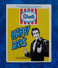 HAPPY DAYS - FONZIE ..  Original Vintage  1970,s T.V. show sticker