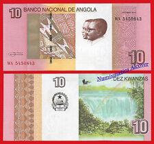 ANGOLA 10 Kwanzas 2012 (2017) Pick NEW  SC /  UNC