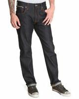 Nudie Herren Regular Fit Jeans | Straight Alf Organic Dry Ropy Selvage |W32 L30