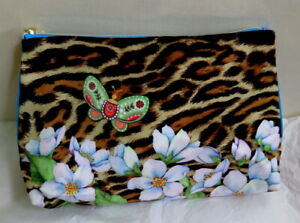 NEW Stylish Animal Print & Butterfly Make Up / Wash Bag from Estee Lauder