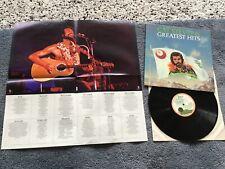 Cat Stevens - greatest hits LP UK 1975 pink rim palm tree Island + POSTER