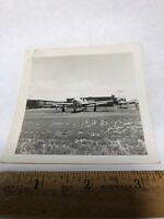 Vintage Original Photo WWII Airplane plane Photograph Germany? Airport