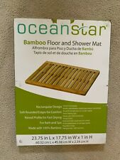 OCEANSTAR INDOOR OUTDOOR BAMBOO FLOOR / SHOWER MAT - FM1163 - BRAND NEW IN BOX