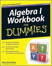 Algebra I Workbook for Dummies® by Mary Jane Sterling (2011, Paperback,...