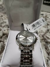 NINE WEST NW 1644SVSB Watch  Women's Glitter Accented Silver-Tone New