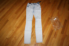 CELLO JEANS DESTROYED SIZE 7   LIGHT WASH  COTTON/SPANDEX  5 POCKETS   NWT