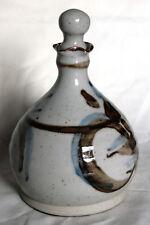 Vintage Lotus Design Vinegar Bottle - Warmingham Pottery