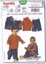 Burda 9698 Baby Toddler Jacket Shirt Pants Shorts Sewing Pattern 9-12 mth 1 2 3