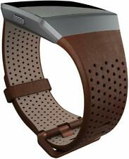 FITBIT Ionic Leather Band - Cognac - Small & Large - Genuine Brand New Boxed