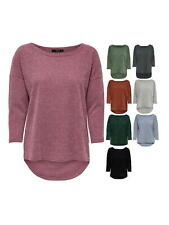 Only Damen Rundhals Shirt OnlAlba Top 3/4-Arm Blouse Pullover XS S M L XL
