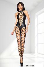Sexy in PVC Catsuit in finta pelle Vinile Lingerie Clubwear Body Tuta 1819