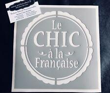 Pochoir Adhésif Réutilisable 20 x 20 cm Le Chic À La Française, Made In France