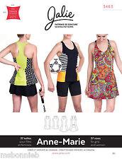 Jalie Tank Top & Tennis Dress w/Bra Women & Girls Sewing Pattern 3463 Anne-Marie