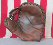 Vintage 1930s Wilson Leather Baseball Glove Basemans Mitt USN Military US Navy