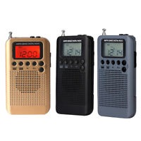 Portable Radio FM/AM Digital With Rechargeable Battery& Earphone Radio
