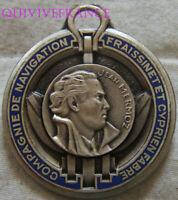 IN18499 - INSIGNE Jean MERMOZ, Cie de Navigation FRAISSINET, émail