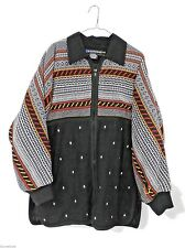 Vtg I.B Diffusion Jacket & Matching Embroidered   Sweater Oversized 1980s M L