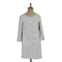 J. Crew Dress Maritime Stripe Knit Shift Dress Navy Blue White Striped XS E7077