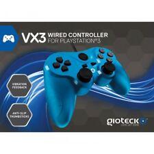 Ps3 PlayStation 3 Gioteck vx-3 Wired (cable atado) azul mercancía nueva controladora