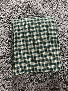 green and beige checkered plaid fabric 10 yards