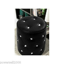 Europe Diameter 34CM Black Lmitation Leather Dressing Stool Footstool &$