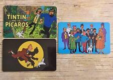 Set 3 Tin Tin Fridge / Toolbox Magnet - movie tintin cartoon comic hegre art