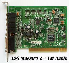 ESS Maestro-2 Rare PCI Sound Card with FM Radio