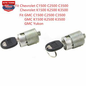 Set of 2 Door Lock Cylinder With Keys For Chevrolet C1500 C2500 C3500 88-94