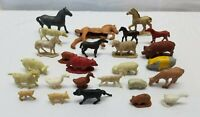 Vintage Marx Miniature Farm Animals Livestock Cow Horse Pig Sheep Goat Toy Lot