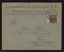 Saar  overprinted  stamp  on  cover        KL0329