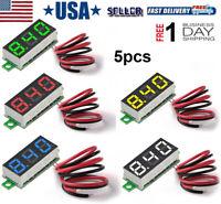 """5pcs Digital DC Voltmeter 0.28"""" LED Panel Voltmeter Display Voltage Tester Meter"""