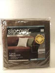 """Maytex Revolutionary Slipcover The Living Room Collection 1 Piece Suede Upto 96"""""""