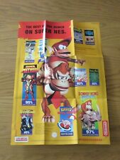 LARGE SUPER NINTENDO / GAMEBOY BEST OF THE BUNCH DOUBLE SIDED POSTER