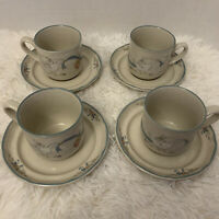 International Marmalade Goose Strawberry Stoneware 4 Cup Saucer 8868 8pc Lot 4
