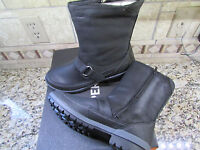 NEW MERRELL EMERY BUCKLE BLACK LEATHER BOOTS WOMENS 7 J42446 MID BOOTS