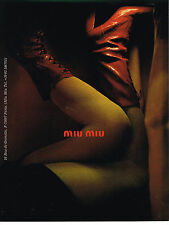PUBLICITE ADVERTISING 104  2001   MIU-MIU    collection chaussures bottes