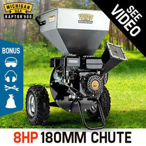 MICHIGAN RAPTOR 900 Wood Chipper/Shredder/Mulcher - 8HP - Upright Style-