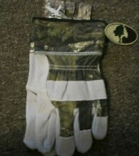 Mens Mossy Oak Break Up Country Gloves Leather Palms Large nwt