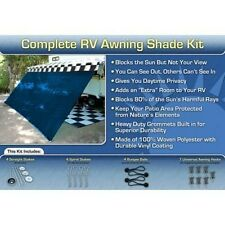 RV Awning Shade Kit RV Shade Complete Kit 10x16 (Blue)