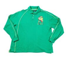 Coogi green Polo Long Sleeved Golf Shirt Size 3XL Embroidered Headdress TT06