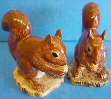 More details for quail ceramic red squirrel salt & pepper pots - wildlife condiment or cruet set