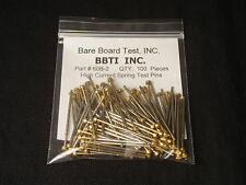 Qty: 100 New High-Current Bare Board Test Probes Spring Pins Gold Pogo NOS Xlnt