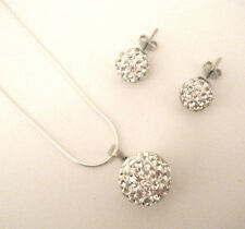 Crystal Disco Ball necklace & earring set ideal birthday or Wedding thank you
