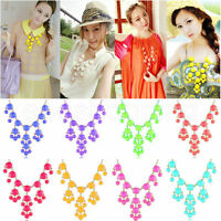 1PC Women Bubble Bib Statement Chain Necklace Jewelry Gifts 12 Colors for Choose